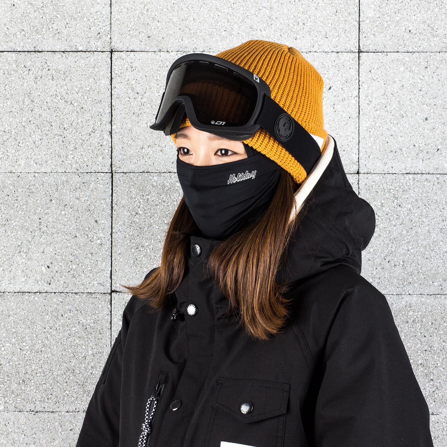 NEON WOMAN balaclava - black[sport] 여성용HOLIDAY OUTERWEAR